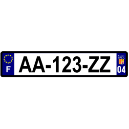 Plaque auto aluminium - 04