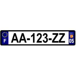 Plaque auto aluminium - 05