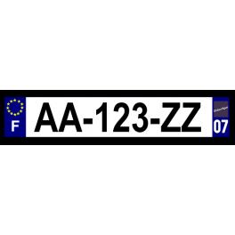 Plaque auto aluminium - 07
