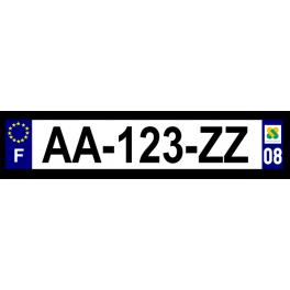 Plaque auto aluminium - 08