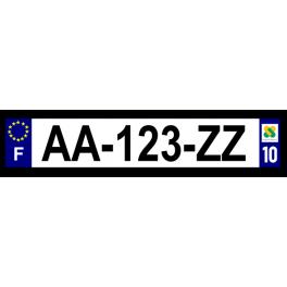 Plaque auto aluminium - 10