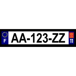 Plaque auto aluminium - 11