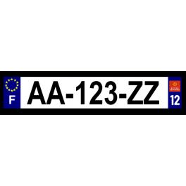 Plaque auto aluminium - 12