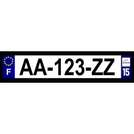 Plaque auto aluminium - 15