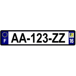 Plaque auto aluminium - 16