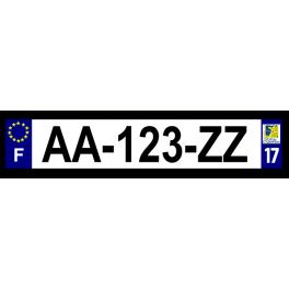 Plaque auto aluminium - 17