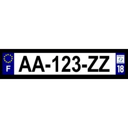 Plaque auto aluminium - 18