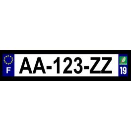 Plaque auto aluminium - 19