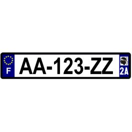 Plaque auto aluminium - 2A