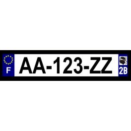 Plaque auto aluminium - 2B