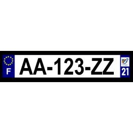 Plaque auto aluminium - 21