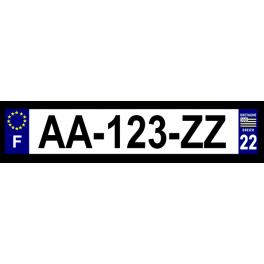 Plaque auto aluminium - 22