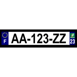 Plaque auto aluminium - 23