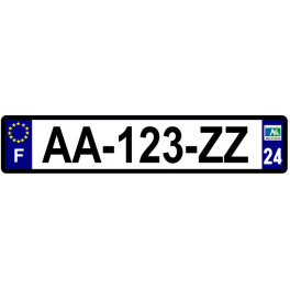 Plaque auto aluminium - 24