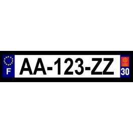 Plaque auto aluminium - 30