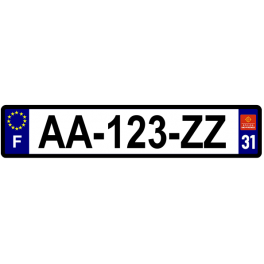 Plaque auto aluminium - 31