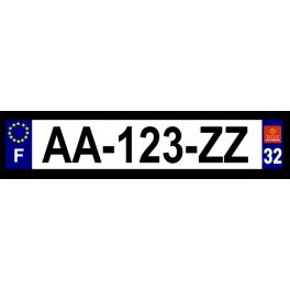 Plaque auto aluminium - 32