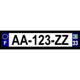 Plaque auto aluminium - 33