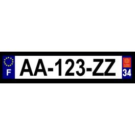 Plaque auto aluminium - 34