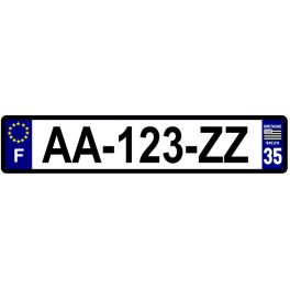 Plaque auto aluminium - 35