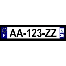 Plaque auto aluminium - 36