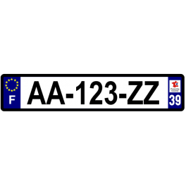 Plaque auto aluminium - 39