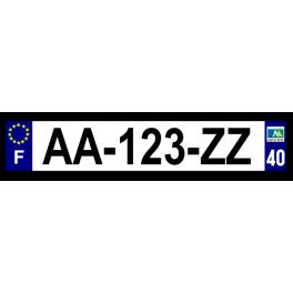 Plaque auto aluminium - 40