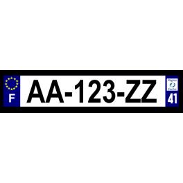 Plaque auto aluminium - 41