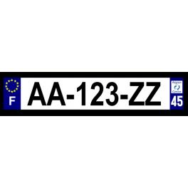 Plaque auto aluminium - 45