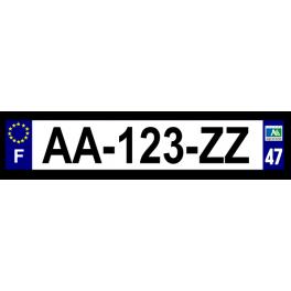 Plaque auto aluminium - 47
