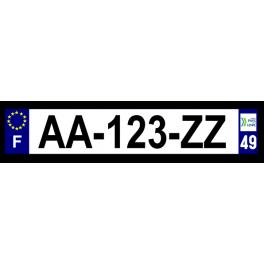 Plaque auto aluminium - 49