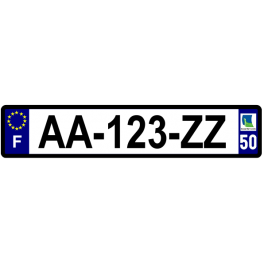 Plaque auto aluminium - 50