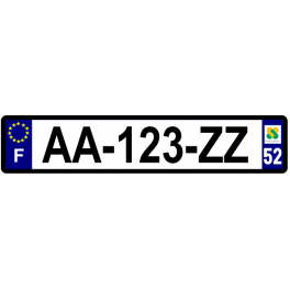 Plaque auto aluminium - 52