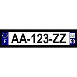 Plaque auto aluminium - 53