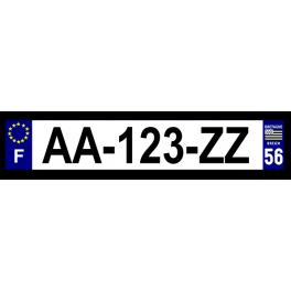Plaque auto aluminium - 56