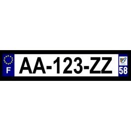 Plaque auto aluminium - 58