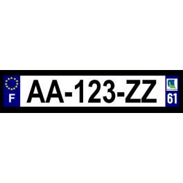 Plaque auto aluminium - 61