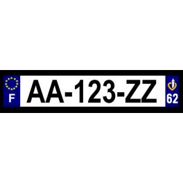Plaque auto aluminium - 62