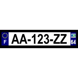 Plaque auto aluminium - 64