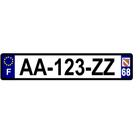 Plaque auto aluminium - 68