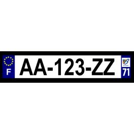 Plaque auto aluminium - 71
