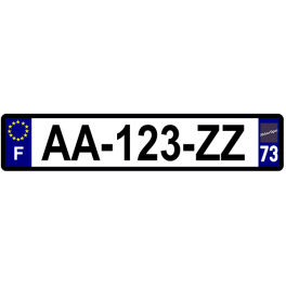 Plaque auto aluminium - 73