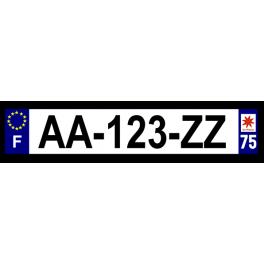 Plaque auto aluminium - 75