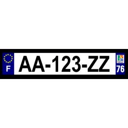 Plaque auto aluminium - 76