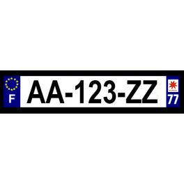 Plaque auto aluminium - 77