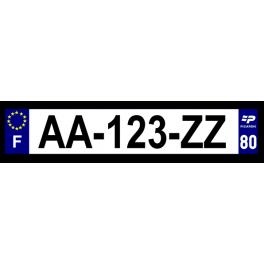 Plaque auto aluminium - 80