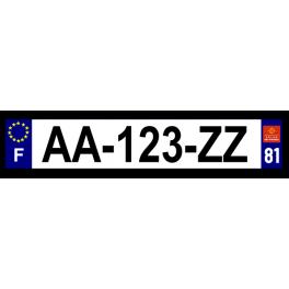 Plaque auto aluminium - 81