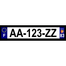 Plaque auto aluminium - 83
