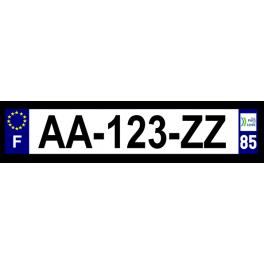 Plaque auto aluminium - 85