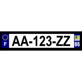 Plaque auto aluminium - 86